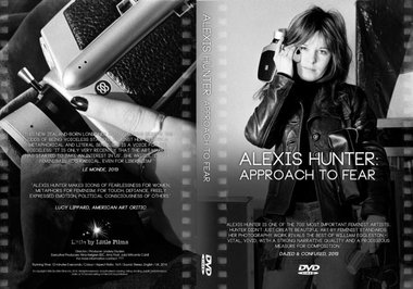 "Dvd cover: ""Alexis Hunter: Approach to Fear,"" 2014, 12 min film directed by Lindsey Dryden"