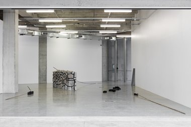 Installation of Bianca Hester's movements materialising momentarily at St Paul St Gallery. Photo: Sam Hartnett.