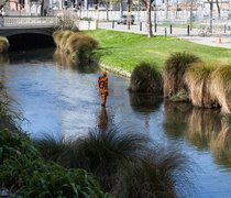 Antony Gormley, STAY, 2015.  Commissioned by the Christchurch City Council Public Art Advisory Group. Photo by Bridgit Anderson.