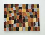 Shirley Purdie, Gija Kinship, 2015, natural ochre and pigments on canvas. Private Collection. Photo: Tosh Ahkit.