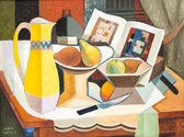 John Weeks, Still Life With Yellow Jug, oil on wood, 380 x 500 mm. Collection of Dunedin Public Art Gallery