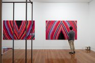 Ben Buchanan, #2 and #3, 2013, vinyl on board, 1500 x 2444 mm each. Courtesy of the artist. Photo: Sam Hartnett