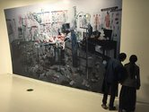 Wang Qingsong ICU, Unfamiliar Asia exhibition, CAFA Museum, Beijing. Photo: John B Turner