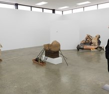 Oscar Enberg, the prophet, the wise, the technician and the Pharisee, as installed at Artspace. Photo: Sam Hartnett