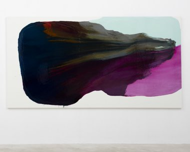 Marie Le Lievre, Slipping (Madder), 2015, oil and graphite on canvas, 1650 x 3150 mm