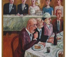 Bryan Dew, Wedding breakfast, 1961, Collection of Hawke's Bay Museums Trust, Ruawharo Tā-ū-rangi, 2008/5
