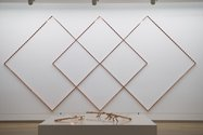 Patrick Hamilton, Intersecciones (Intersections), 2014, copperplated spike wall protectors, 2800 x 5600 mm, courtesy of the artist, Madrid.