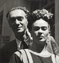 Nickolas Muray and Frida Kahlo, by Nickolas Muray, 1939 ©Frida Kahlo Museum