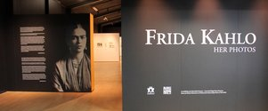 The exhibition, Frida Kahlo: Her Photos. as installed at Te Manawa, Palmerston North.