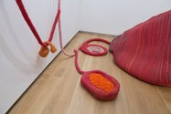 Maria Nepomuceno, Grande Boca 9Big Mouth), 2013, ropes, beads, fibreglass, resin, plates, wooden paint mop handles, acrylic, ceramic, 6000 x 5000 x 7200 mm. Courtesy of the artist and Victoria Miro, London