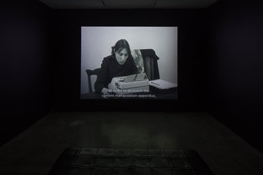 Harum Farocki, Their Newspapers, 1968,  16 mm film transferred to video. 17 min. (Courtesy of Harun Farocki GbR). Photo: Sam Hartnett