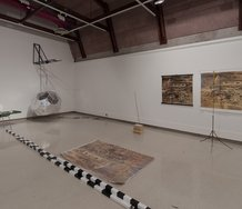 Paul Cullen's Provisional Arrangements at installed at Ilam Campus Gallery. Photo: Nicholas Glen