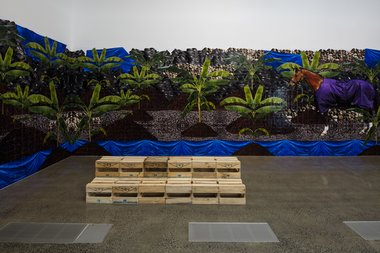 Janet Lilo's Status Update, in Gallery Three, top floor of Te Uru. Photo: Sam Hartnett