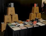 Bookstand by Kelvin Soh and Anita Totha. Photograph: Emil McAvoy