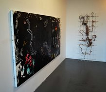 On the wall, Abigail Jensen's Big Black Painting.