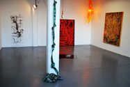 Installation of Creep, works by Abigail Jensen and Eliza Webster at Skinroom