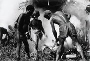 Photograph from page 68. 'Villagers prepare feast in the highlands of West Papua 1995.'