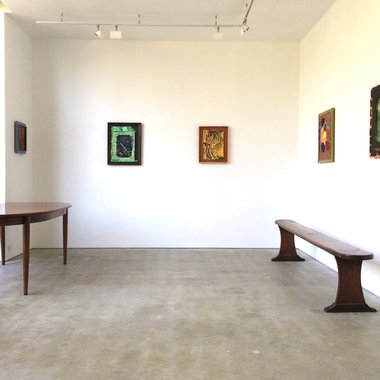Cat Fooks' Pleasant St exhibition as installed at Anna Miles
