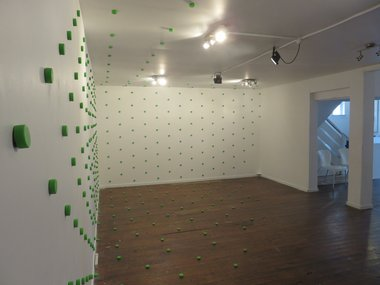 Catharine Salmon's Bubble as installed at Refinery Artspace, Nelson