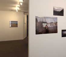 Installation of works by George Staniland and Anna Cotterill at Photospace