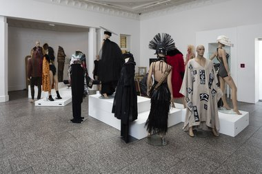Installation of Intellectual Fashion Show at Gus Fisher. Photo: Sam Hartnett