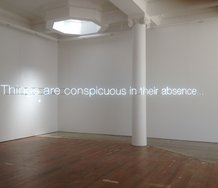 Cerith Wyn Evans, Things are conspicuous in their absence..., 2012, neon, 190 c 4904 mm