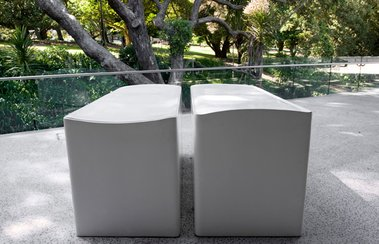 Rachel Whiteread, Untitled (Pair), 1999, cast bronze and cellulose paint. On loan from Erika and Robin Congreve.