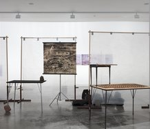Paul Cullen's Provisional Arrangements as installed at Two Rooms. Photo: Sam Hartnett