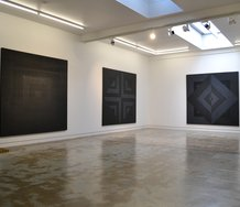 Visesio Siasau's exhibition, 'Uli i he 'Uli - Black on Black, as installed at OREXART.