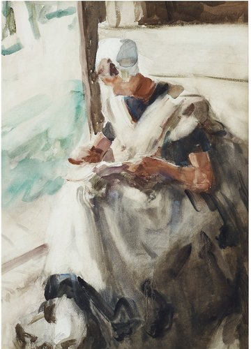 Frances Hodgkins, Dutch woman reading, 1906, watercolour, 620 x 450 mm. Courtesy of Avenal McKinnon