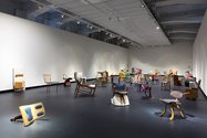 Martino Gamper: 100 Chairs in 100 Days at City Gallery Wellington, 2017. Photo: Shaun Waugh