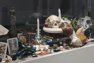 Fiona Pardington's Altar as presented in Occulture: The Dark Arts at City Gallery Wellington, 2017. Courtesy Starkwhite, Auckland