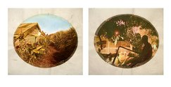 Tracey Moffatt, Plantation (Diptych No. 8), 2009, 2 digital prints with archival pigments, InkAid, watercolour paint and archival glue on handmade Chautara Lokta paper,  2 photographs: each 40.0 x 50.0 cm sheet