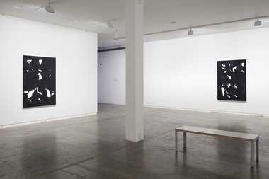 Installation of Jeena Shin's Movement Image Time exhibition at Two Rooms. Photo: Sam Hartnett