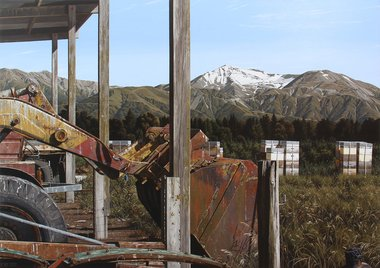 Michael Hight, Mount Hutt Station, oil on linen, 2014