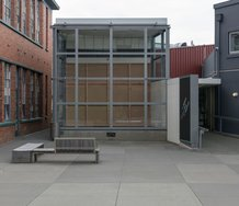 Gallery entrance, Luke Willis Thompson, Adam Art Gallery Te Pātaka Toi, Victoria University of Wellington, 21 February – 15 April 2018