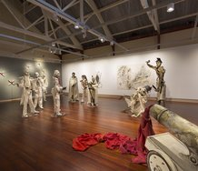 Sally Burton, Pale History, as installed at The Suter Art Gallery Te Aratoi o Whakatu. Photo: John-Paul Pochin