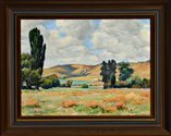 Violet Whiteman 'View at Cherrybank' Circa 1940, oil on canvas, 1957/2/4.  Collection of the Sarjeant Gallery Te Whare o Rehua Whanganui. Gift of the estate of Mrs A.M. Wilkie, 1957.