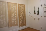 Installation of 'Renegotiating the Feminine Ideal' at Tacit Gallery