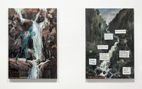Greg O'Brien and Euan Macleod, Canticle of a mid-Canterbury Stream, 2018 and After Petrus Van der Velden, 2017