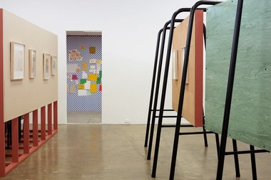 Installation of Susan Te Kahurangi King's Paperdwellers: Works from 1967-1980 at Artspace, Auckland. Photo: Sam Hartnett