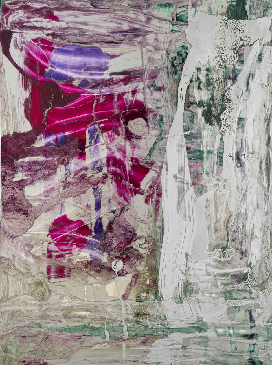 Muted But Textured Frank Paintings Eyecontact Austin Slip On Minerva Pink Dale You Can Touch It 2017 Aluminium Silver