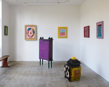 Cat Fooks' Al Dente as installed at Anna Miles. Photo: Sam Hartnett