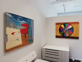 Roger Boyce, Room at {Suite}. Works featured are [left to right] Honorary Chair and Gamesroom