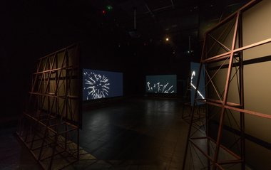 Installation view of Steve Carr: Chasing the Light 2018. 6-channel video installation. Commissioned by Christchurch Art Gallery Te Puna o Waiwhetū. Steve Carr is represented by Michael Lett, Auckland, and STATION, Melbourne