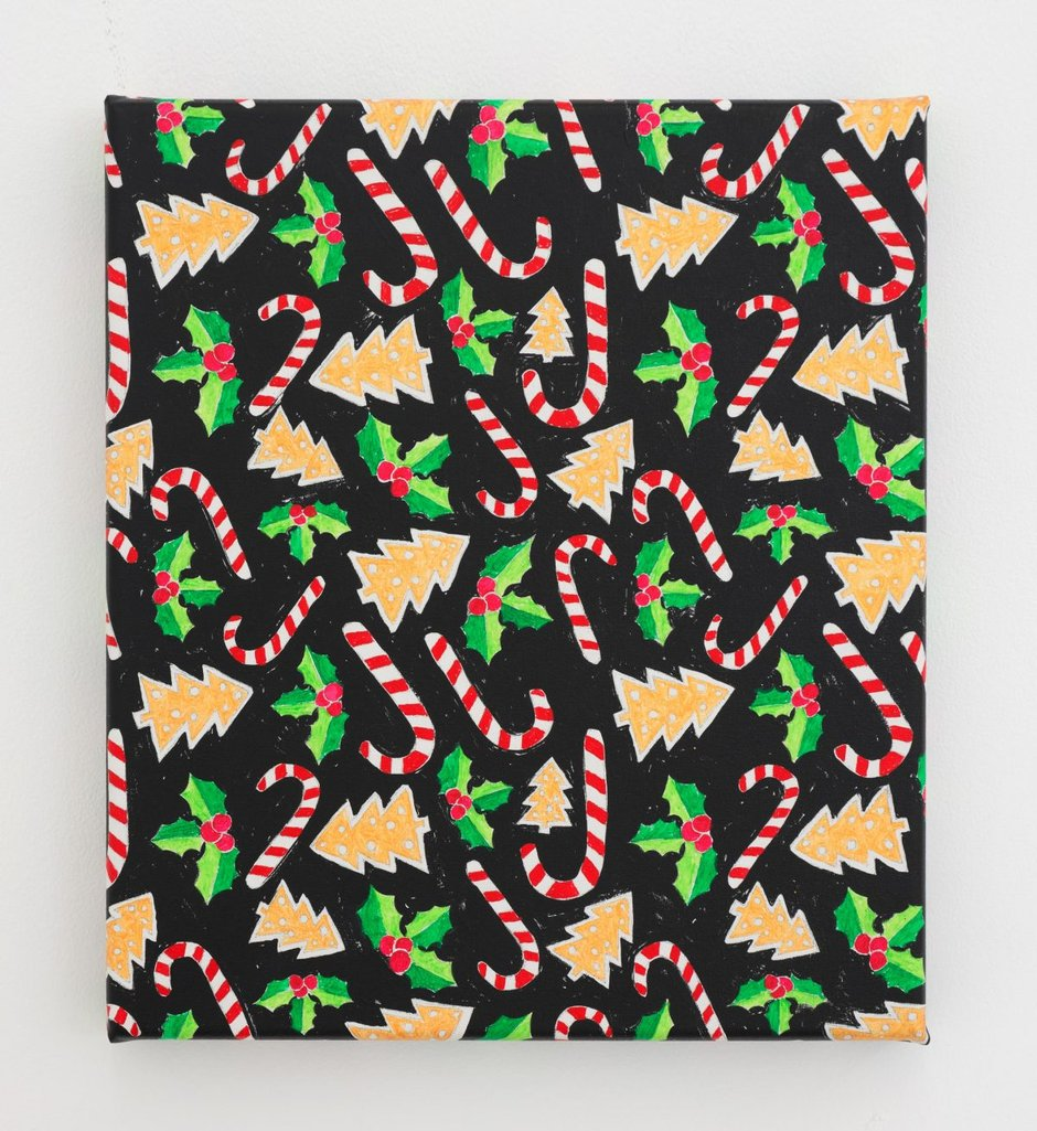 Austin And Ngakuru Eyecontact Slip On Minerva Pink Nick Metaphysical Present 2018 Acrylic Canvas