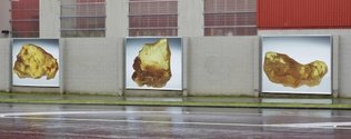 Mary-Louise Browne's Te Tuhi Billboard project, 'Golden,' as installed in 2010.