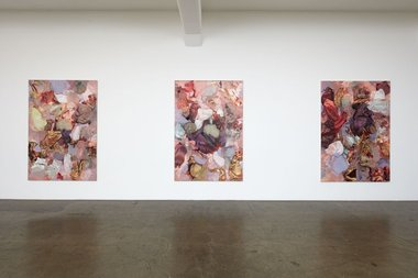 Installation of Andre Hemer's Day Paintings at Gow Langsford. Photo: Sam Hartnett