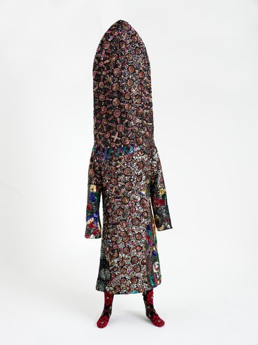 Nick Cave, Soundsuit, 2008, mixed media. Collection of Auckland Art Gallery Toi o Tamaki