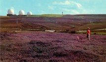 From Postcard Story #10 a.  Fylingdales Moors, Yorkshire, Great Britain. (Many years later / her granddaughter /took it upon herself/ to visit sites of ugliness.)